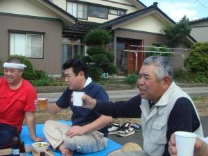 ご長老になってしまった佐藤さんの乾杯!