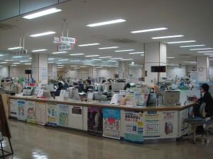 スーパーマーケットを改築した杵築市役所
