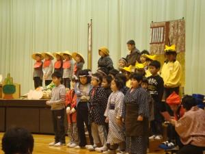 私も小学生の時演じたことがある2年生劇「新説笠地蔵」