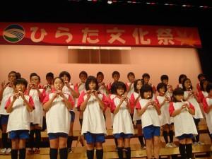 南平田小4年生息ぴったりリコーダー演奏
