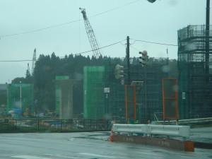 国道13号線尾花沢市通過は久しぶりで、高速道路山形中央道の工事が見えていました