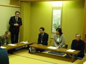 和嶋代議士、毛屋市議の報告会にお邪魔させて頂きました