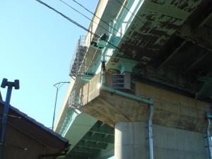 橋の雨樋漏水確認に立寄ったのですが確認できず