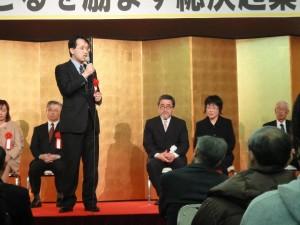梅津庸成農林水産大臣政務秘書官より激励のお言葉を賜わりました