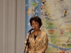 休日返上でわざわざおいで下さり山形県を代表しての歓迎のご挨拶を述べて下さった吉村美栄子山形県知事