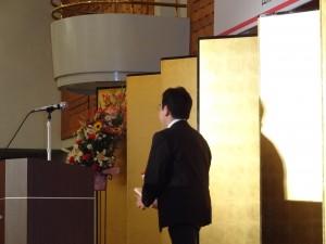 余りにも簡潔なご挨拶にカメラ間に合わず近藤洋介衆議院議員には大変失礼致しました