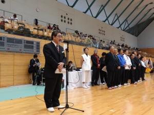 平成4年べにばな国体デモンストレーションスポーツとして開催した綱引、開催地旧平田町で続けてきた記念大会、20回を迎えることが出来た喜びと皆様方のご尽力に感謝を申し上げました