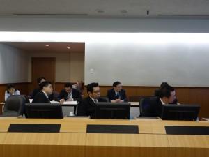 NEC本社最先端のIT技術が詰まった会議室にて研修